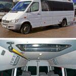 """Микроавтобус Mercedes-Benz Sprinter, предоставленный транспортной компанией """"НьюМоскоуБас"""", оснастили двумя модулями Saniclima W200"""