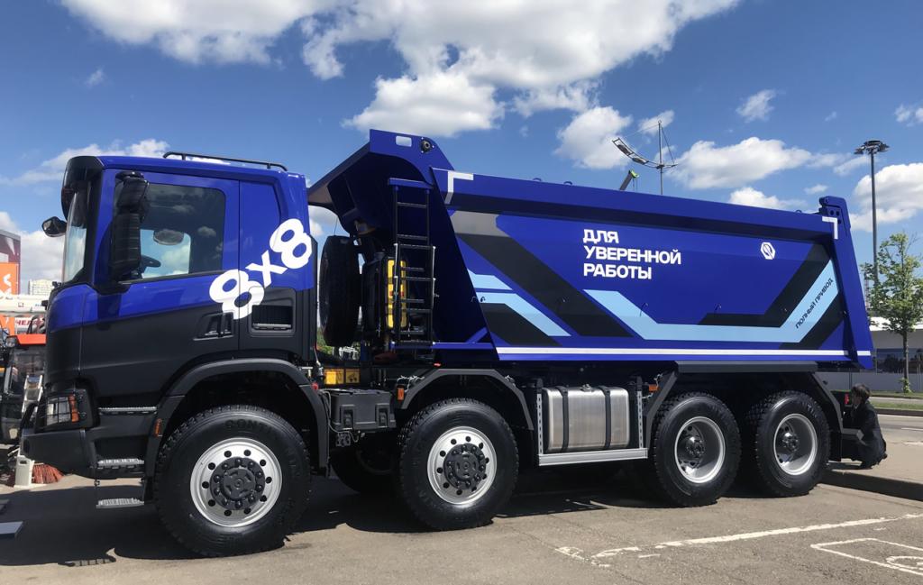 Грузовик Scania с кузовом «Бецема»